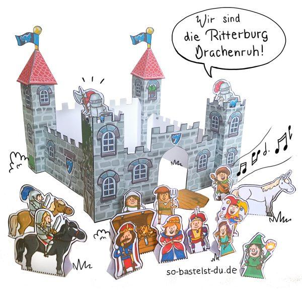 Basteln Ritterburg Drachenruh