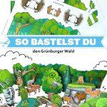 Bastelbogen Wald und Tiere