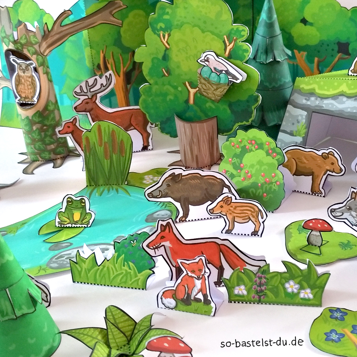 Basteln Grünburger Wald Details