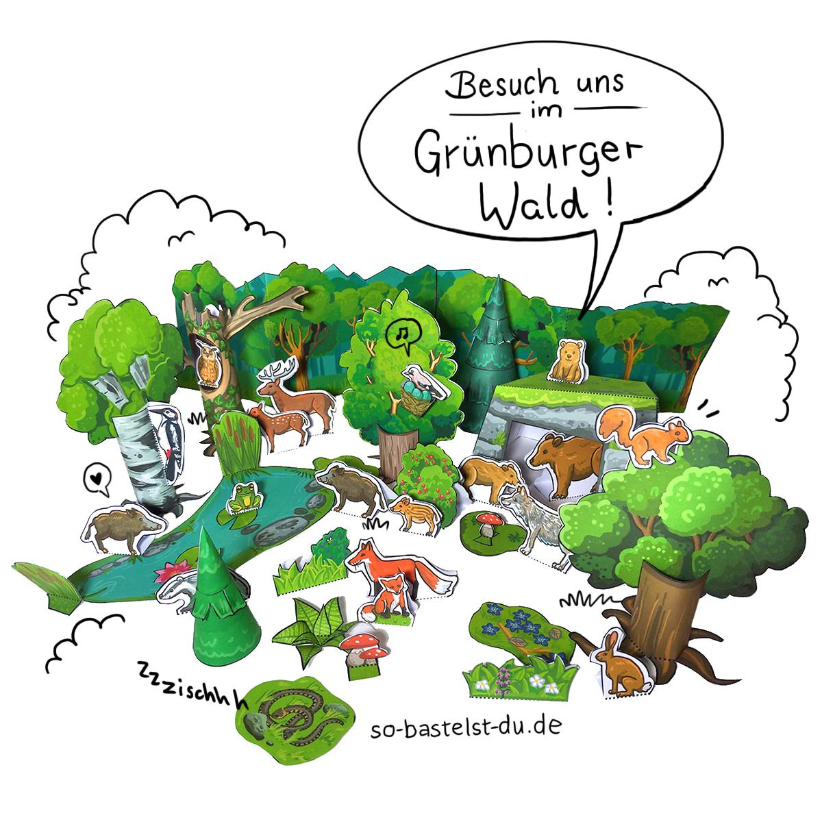Basteln Grünburger Wald