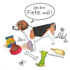 Hund Beagle basteln