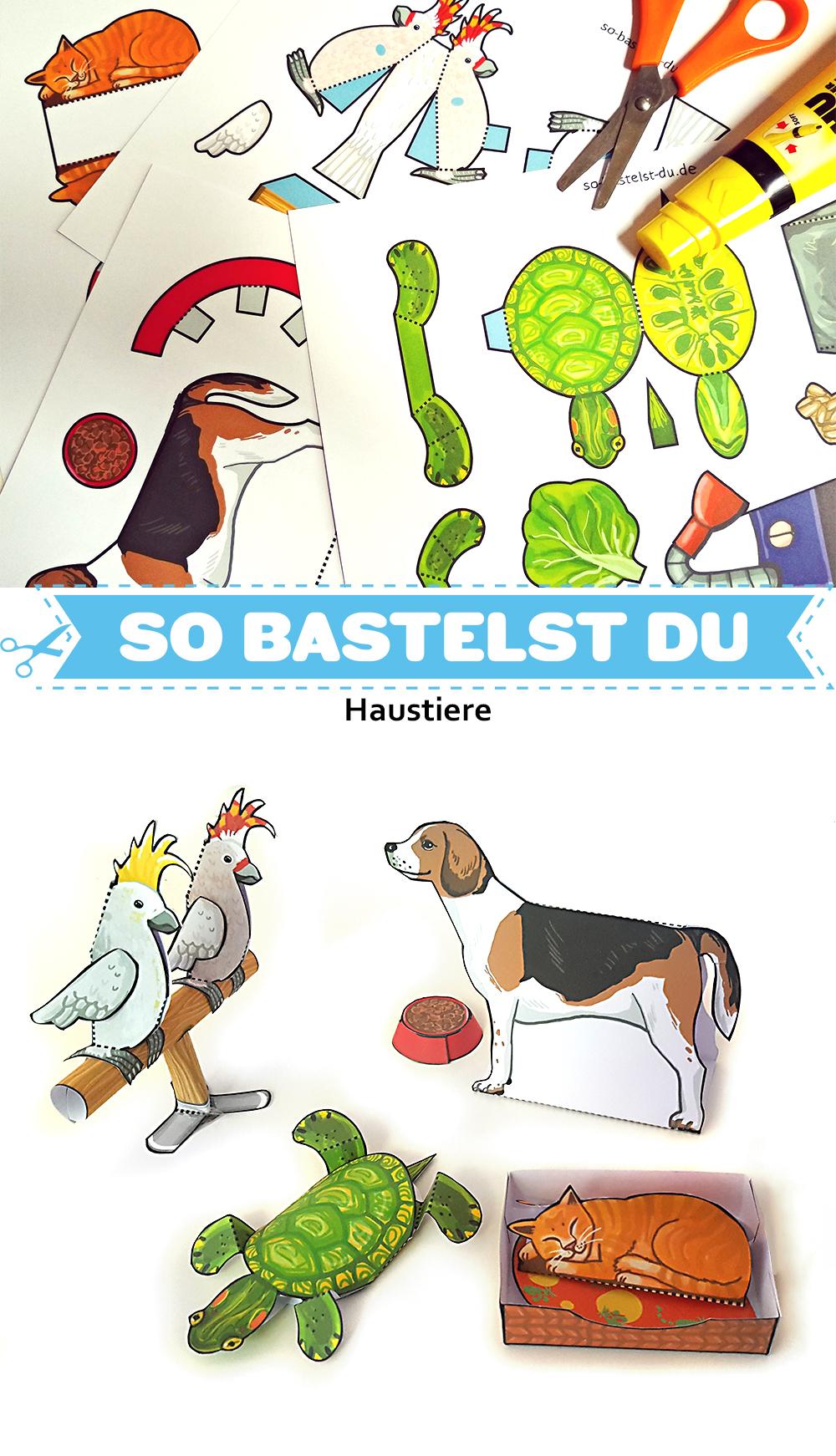Bastelbogen Haustiere