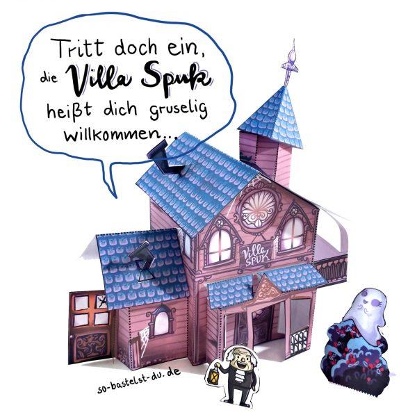 Villa Spuk basteln Halloween