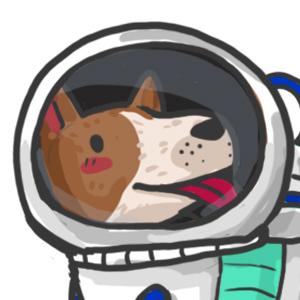 Weltraum Hund