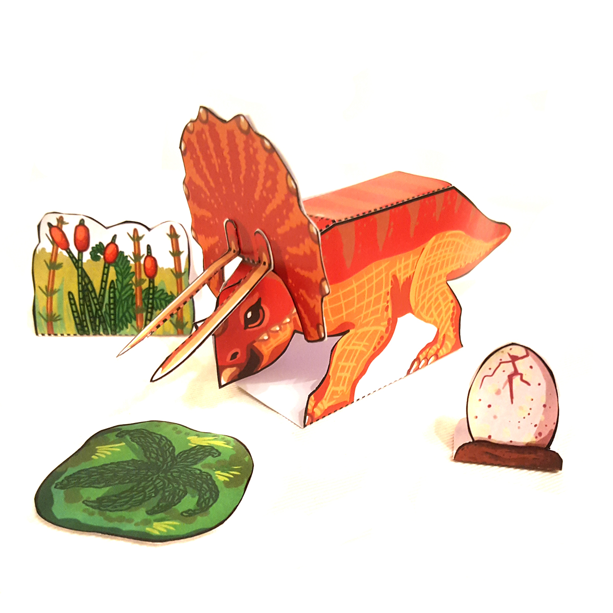Triceratops basteln