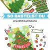 Weihnachtskarte Tannenbaum selbst basteln bekleben
