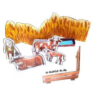 Bauernhof Kühe und Kalb basteln