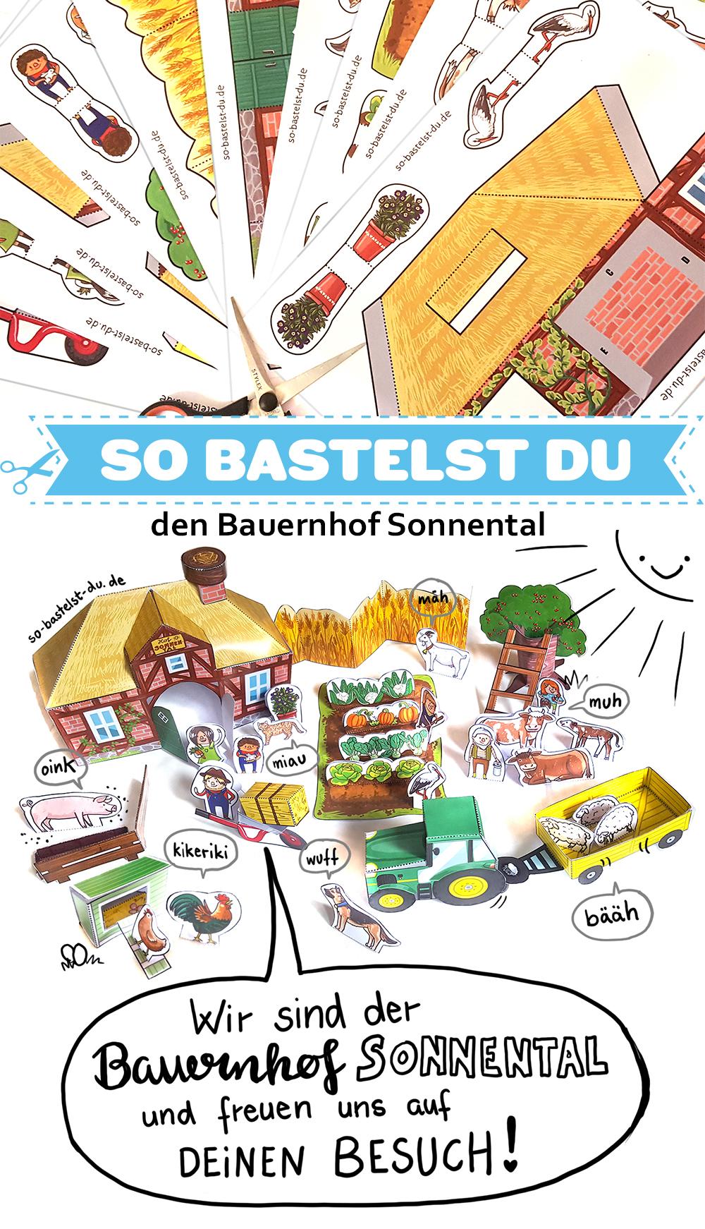 Bastelbogen Bauernhof Sonnental
