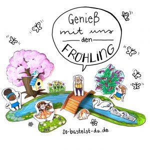 Frühling basteln für Kinder