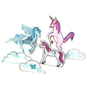 Einhorn Pegasus und Fohlen